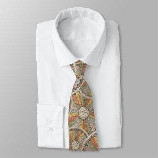 Cravate Tableau de multiplication vintage de Steampunk de