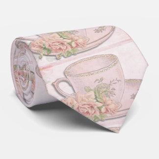 Cravate Tasse de thé anglaise romantique vintage