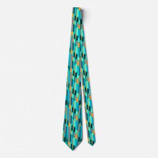 Cravate Teal et rétro style orange du style tie1960