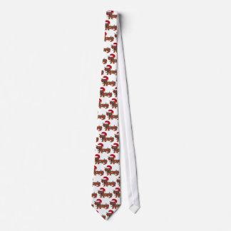 Cravate Teckel embrouillé dans des lumières de Noël