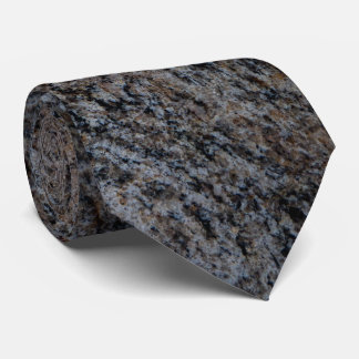 Cravate Texture noire rouge en pierre de granit
