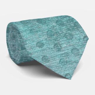 Cravate Texture Nubby de tissu de Chenille d'Aqua