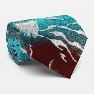 Cravate Turquoise de safari