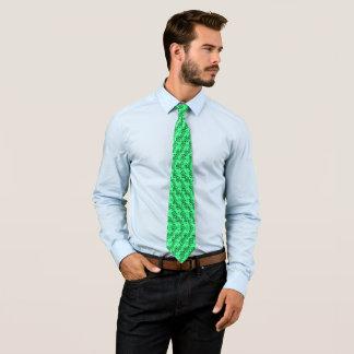 Cravate urbaine de satin de menthe de Hawaïen