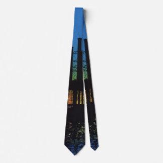 Cravate Usine de fabrication au coucher du soleil,