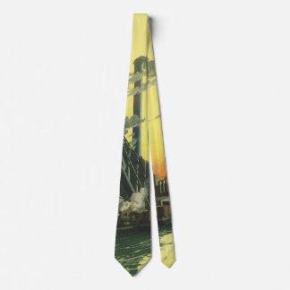 Cravate Usine vintage d'affaires, fabriquant sur un dock