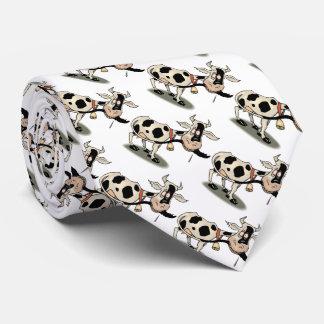 Cravate Vache noire et blanche mignonne