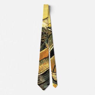 Cravate Van Gogh ; Une paire d'entraves en cuir