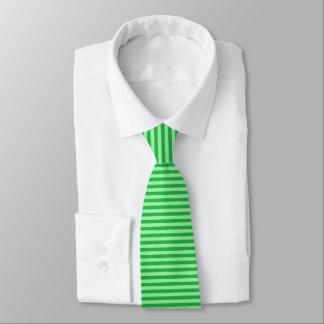 Cravate Vert et rayures vertes de menthe