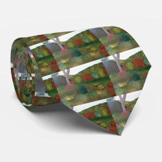 Cravate vibrante d'automne