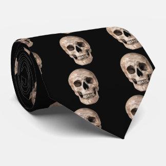 Cravate Vieux crâne patiné