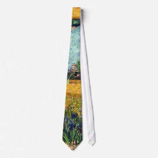 Cravate Vincent van Gogh - vue d'Arles avec des iris