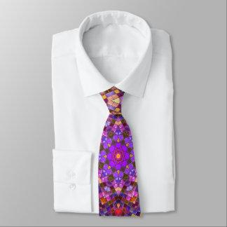 Cravate vintage de kaléidoscope    de motif de
