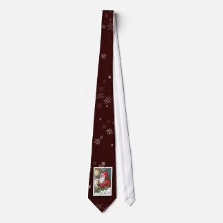 Cravate vintage d'image du père noël