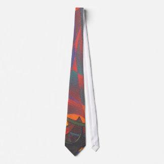 Cravate Voiles rouges dans l'abrégé sur cubiste ordure de