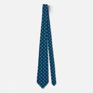 Cravates bleues vertes de grenouille d'arbre de