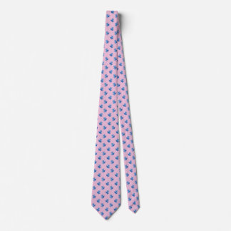 Cravates roses pour les grenouilles d'arbre bleues