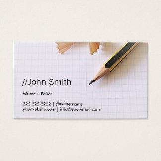 Crayon pointu propre d'auteur/rédacteur cartes de visite