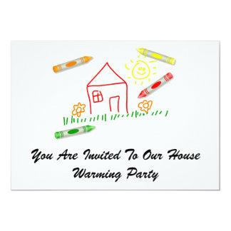 Crayonnez la Chambre, vous sont invités à notre Carton D'invitation 12,7 Cm X 17,78 Cm