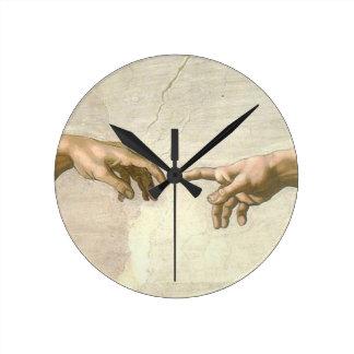 Création des mains d'Adam - Michaël Angelo Horloge Ronde