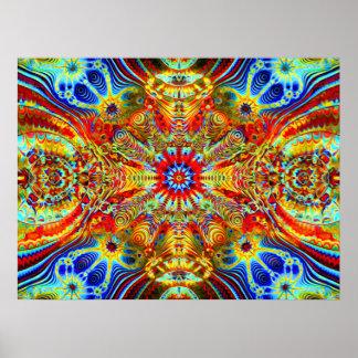Creatrip2 cosmiques - Visuels trippy psychédélique Poster
