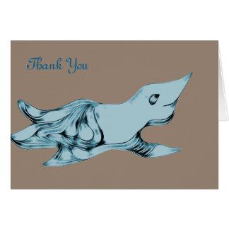 Créature étrangère bleue mignonne carte de correspondance
