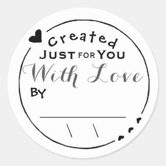 Créé avec la signature/date d'illustration d'amour sticker rond