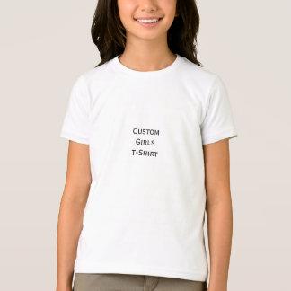 Créez la pièce en t de filles de coton peignée par t-shirt