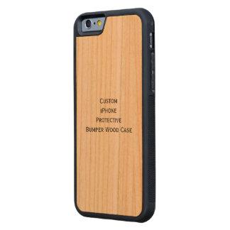 Créez le cas en bois de butoir protecteur d'iPhone Coque iPhone 6 Bumper En Cerisier