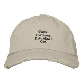 Créez le casquette/chapeau brodés affligés par chapeau brodé