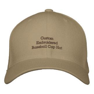 Créez le casquette de casquette de baseball brodé