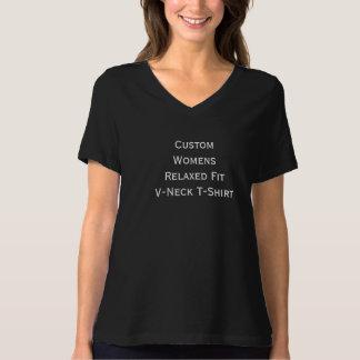 Créez le T-shirt convenable détendu du V-Cou des
