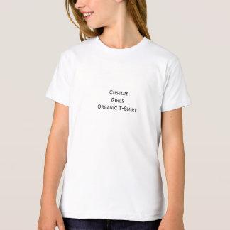 Créez le T-shirt organique de coton de filles