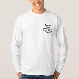 Créez T-shirt brodé de la douille des hommes faits