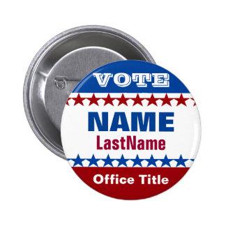 Créez un bouton de campagne badge rond 5 cm