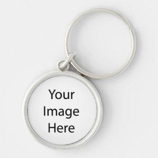 Créez vos propres porte-clé rond argenté