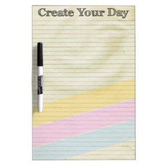 Créez votre jour tableaux blancs  effaçables à sec