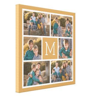 Créez votre propre collage de photo - monogramme toiles