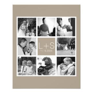 Créez votre propre monogramme de collage de photo prospectus 11,4 cm x 14,2 cm