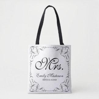 Créez votre propre monogramme de M. Mme His Hers Tote Bag