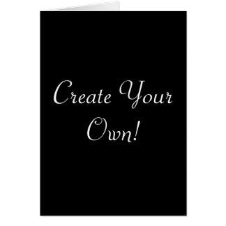 Créez votre propre noir carte de vœux