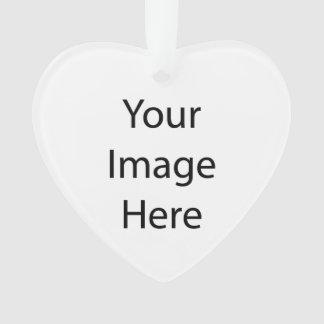 Créez votre propre ornement d'acrylique de coeur