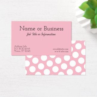 Créez votre propre point de polka blanc cartes de visite