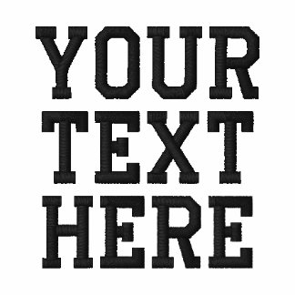 Créez votre propre polo brodé des textes