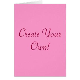 Créez votre propres rose et blanc I Carte De Vœux