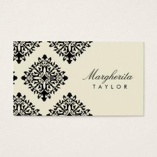 Crème de 311 Margherita et damassé de Blanc Cartes De Visite