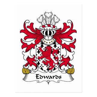 Crête de famille d'Edwards Carte Postale