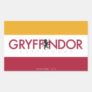 Crête de fierté de Chambre de Harry Potter | Sticker Rectangulaire