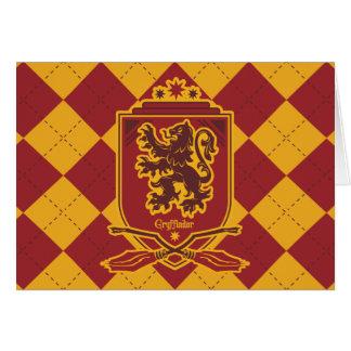 Crête de Harry Potter   Gryffindor QUIDDITCH™ Carte De Vœux
