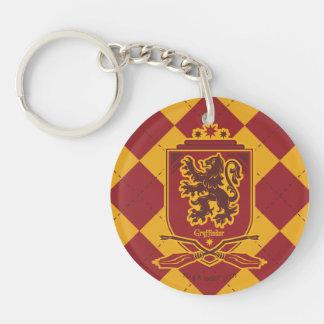 Crête de Harry Potter   Gryffindor QUIDDITCH™ Porte-clé Rond En Acrylique Double Face